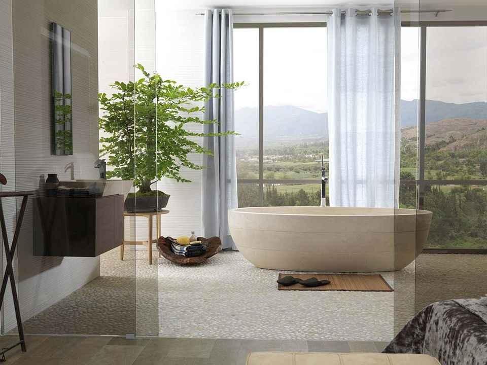 Modèles de salle de bains Zen